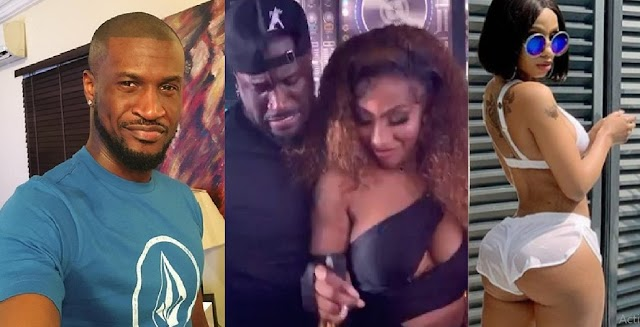 """""""Mercy na Celebrity Olosho"""" - Fans react to the video of Peter Psquare and Mercy Eke dancing together at a party [Video]"""