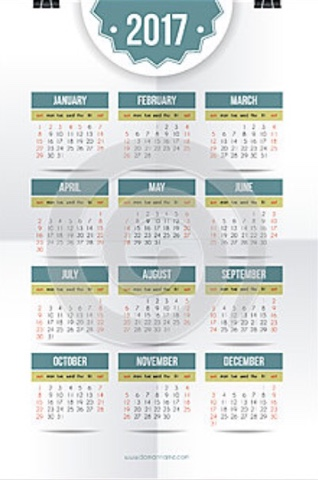 free 2017 calendar one page