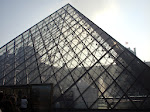 See through the pyramid to the main Louvre building