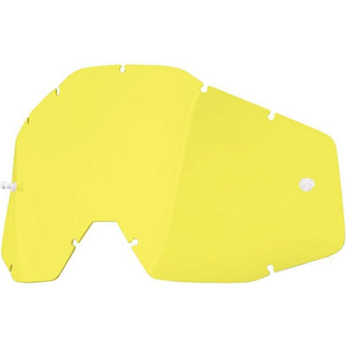 100% Replacement Anti-Fog Dual Lens, Yellow - Vented