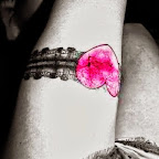 garter pink heart leg - tattoos ideas
