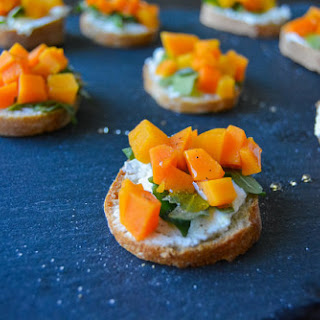 Winter Butternut Bruschetta with Herbed Ricotta