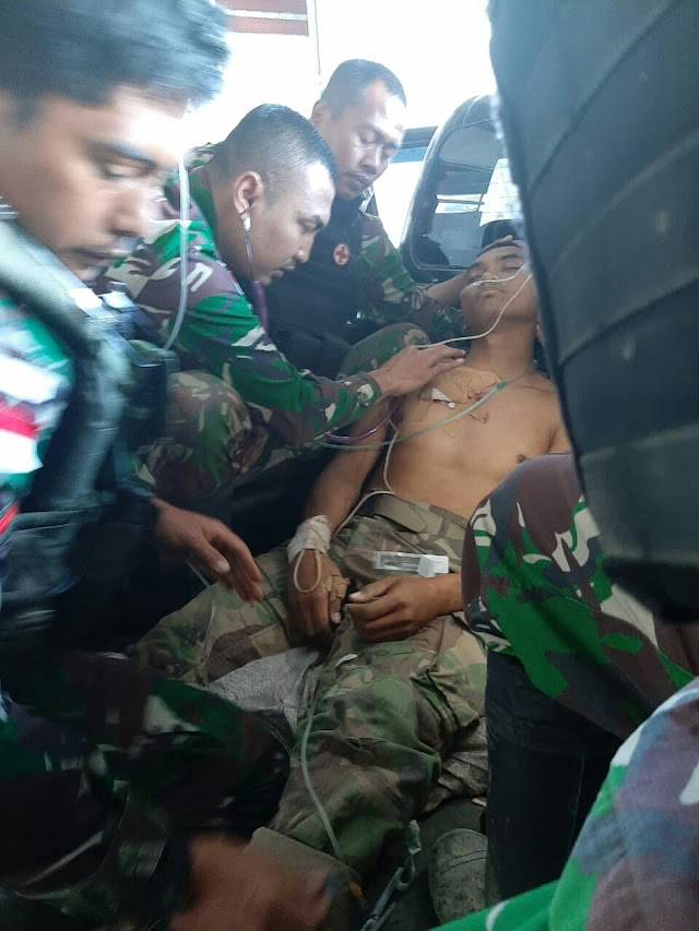 Timika, Gangguan Tembakan KSB Mengakibatkan 1 Personil Terluka Parah