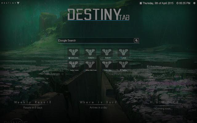 Destiny Tab
