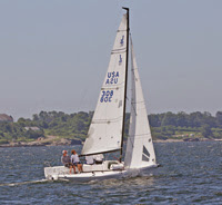J/70 one-design speedster- sailing Newport Cup- around Jamestown Island race