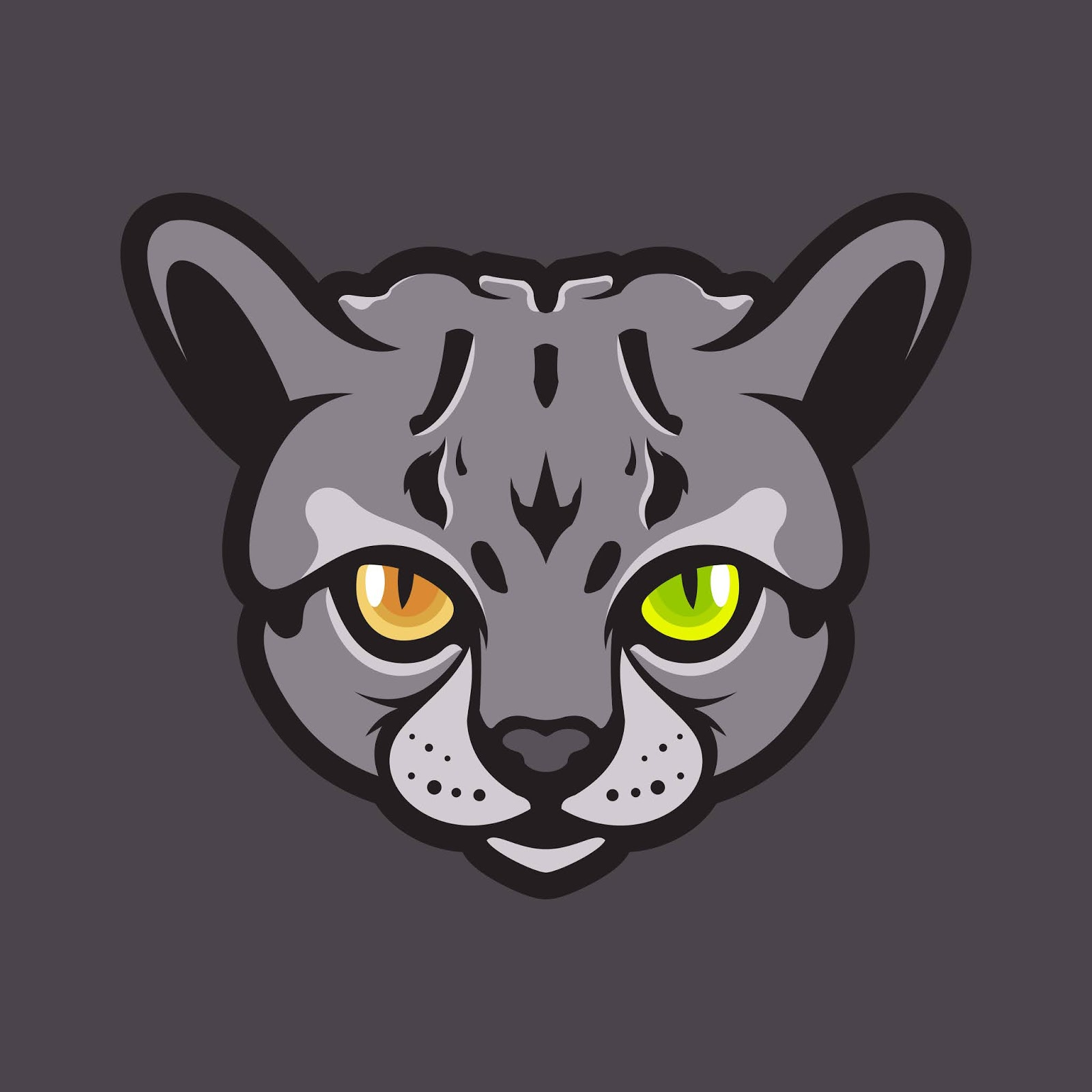 Cat Head Illustration Free Download Vector CDR, AI, EPS and PNG Formats