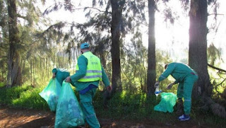 Opération de nettoiement à la forêt récréative de la ville d'Oum El-Bouaghi