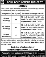 DDA Recruitment 2019 Apply Online (190 Vacancies Opening)