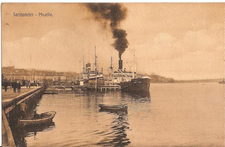 El vapor CABO ROCHE en Santander. Fecha indeterminada. Colección Juan Mª Rekalde. Nuestro agradecimiento.jpg