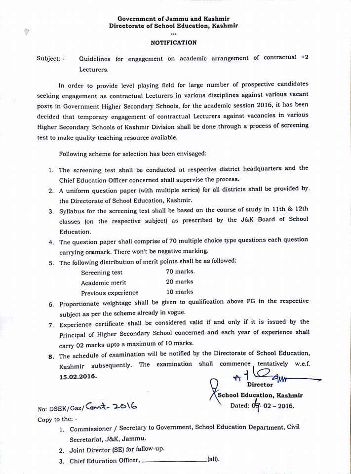 Guidelines for Contractual Lecturers' engagement 2016
