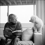 – Mary Oliver and Percy. Photo by Rachel Giese Brown.