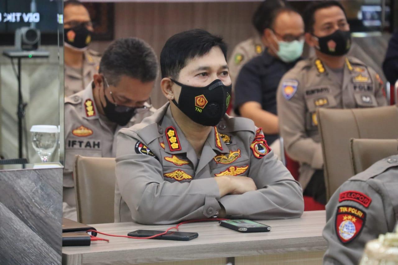 Kapolda Sulsel Hadir Vikon Launching Inovasi Layanan Polisi 110
