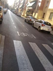 Ciclocarril en calle tranquila ancha, ¿para qué?
