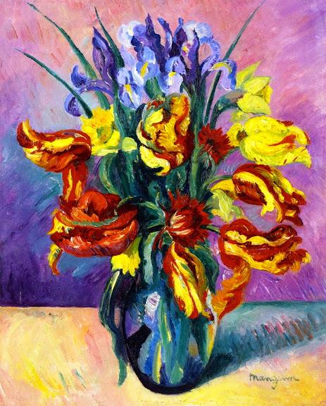 Henri-Charles Manguin - Parrot Tulips