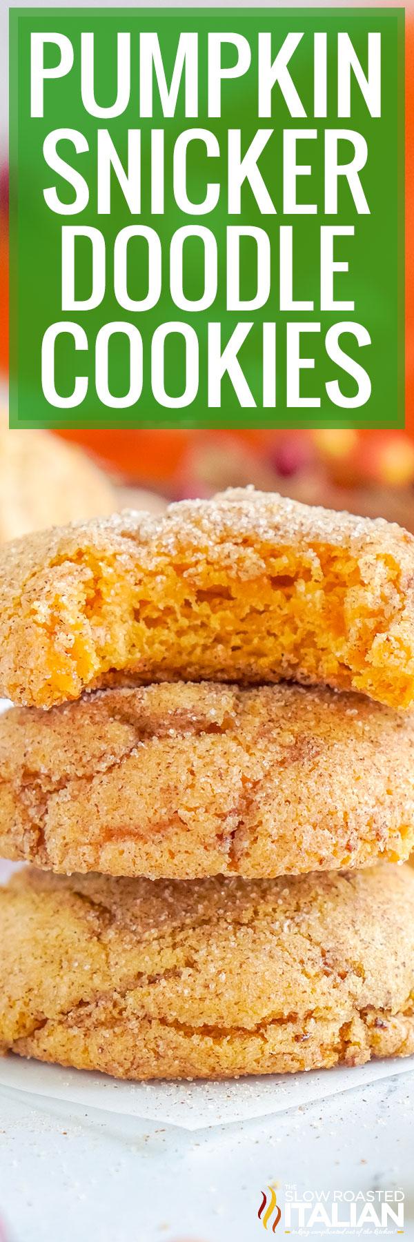 Pumpkin Snickerdoodle Cookies closeup