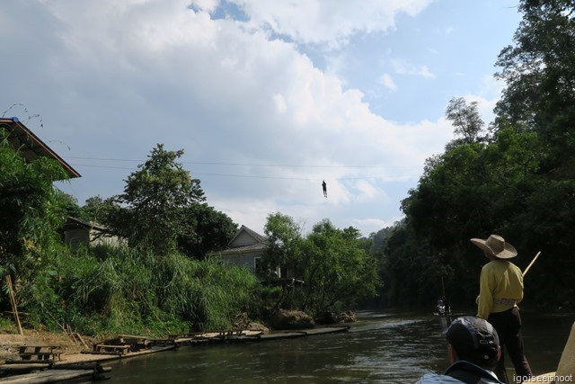 Zip-lining is a popular activity in Chiang Mai. As seen from our bamboo rafting activity.