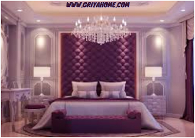 warna cat kamar tidur ungu kesan romantis