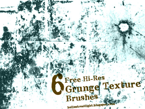 Free Photoshop Grunge Brush Set
