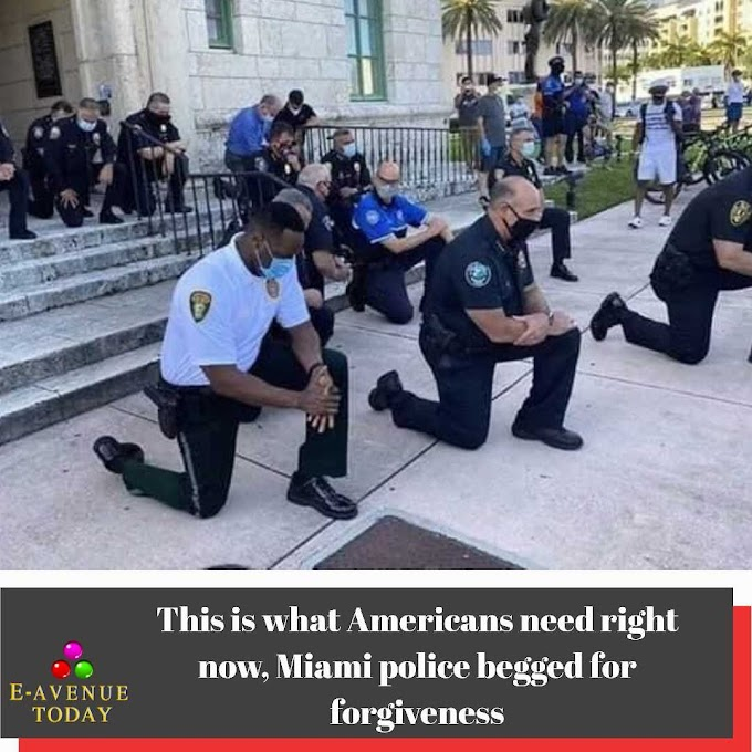 This is what Americans need right now, Miami police begged for forgiveness