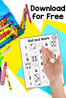 Roll and Cover FREE Math Game for Learning Binders