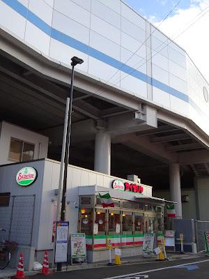 大森町駅のホームの真下