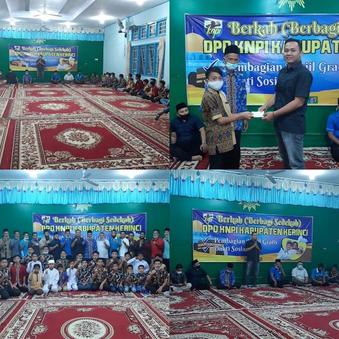 Berkah Ramadhan, KNPI Kerinci Berbagi Kebahagiaan Di Panti Asuhan