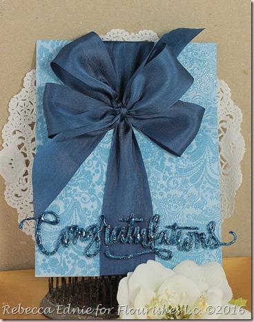 congrats blue bow