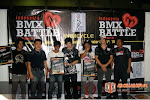 The Winners of Indonesia BMX Battle Tournament '08 [ Left to Right : Rizky (The Best Trick), Yudi (Wimcycle), Botay (Longest Backyard), Mike Ishizuka (Haro's Rider), Jujun (The Best Perform), Colin MacKay (Haro's Rider)