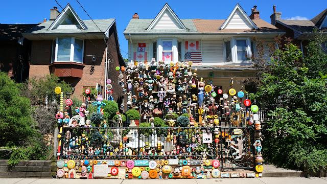 bizarre dollhouse in Leslieville, Toronto in Toronto, Ontario, Canada
