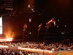 "Some cool acrobatic manuevers on these bendy poles set to ""Illuminati"""