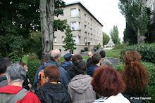 Les Lilas : groupe de visiteur des Promenades urbaines