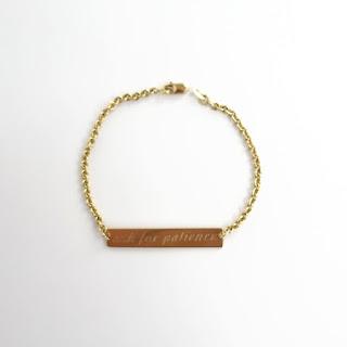 18K and 14K Gold DAMAGED 'Ask For Patience' Bracelet