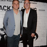 WWW.ENTSIMAGES.COM -    Marc Evans (Director) and Mal Pope  (Producer)    arriving    at      THE UK PREMIERE OF (JACK TO A KING) THE SWANSEA STORY at EMPIRE, LEICESTER SQUARE London September 12th 2014.The movie of Swansea City's rise from near extinction to the top of the Premier League                                                 Photo Mobis Photos/OIC 0203 174 1069
