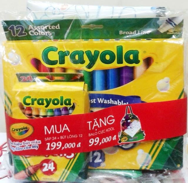 Sản phẩm Combo 08 Bút sáp 24 màu và Bút dạ 12 màu Crayola
