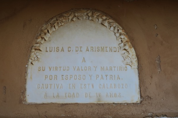 Luisa Arismendi Plaque