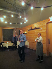 AJ Kemp, cofounder of Hawks View, and Chef Sarah Schafer of Irving St Kitchen present Grand Feast of Oregon, 6 pairings of food and wine by Hawks View Cellars and Irving St Kitchen