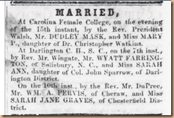 Sarah Jane Graves marriage