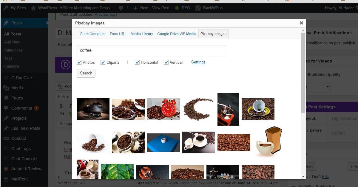 Gambar Percuma Untuk Blog WordPress Dari Plugin Pixabay Images