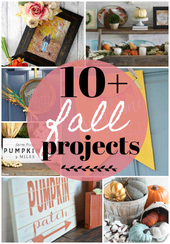Over 10 Fall Projects at GingerSnapCrafts.com #fall #DIY #forthehome