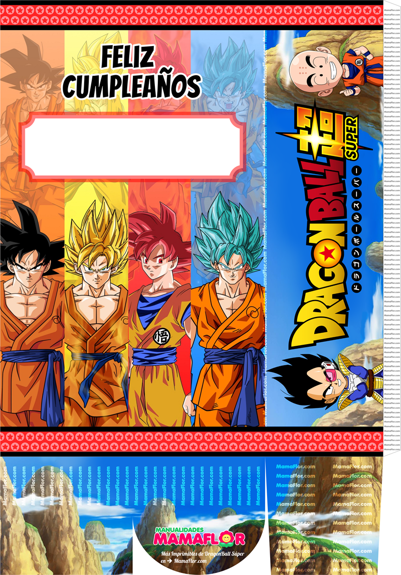 Molde: Caja Sorpresa Dragon Ball Super