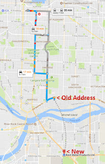 Google Maps Shows Dotted Line From Old To New Location Google
