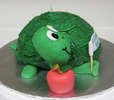 3D Turtle Cake - Side View 1
