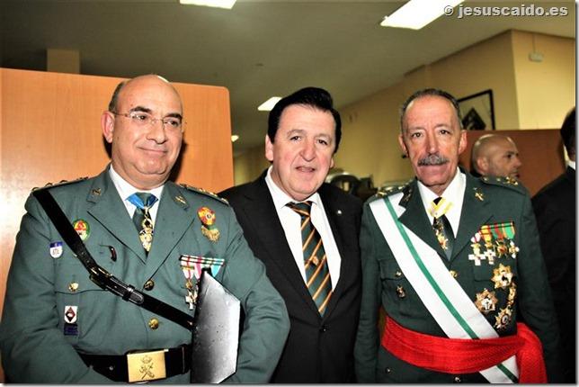 Junto al Teniente General Martín Alonso y el Coronel Director de la Academia