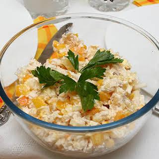 Pineapple Cheese Mayonnaise Salad Recipes.