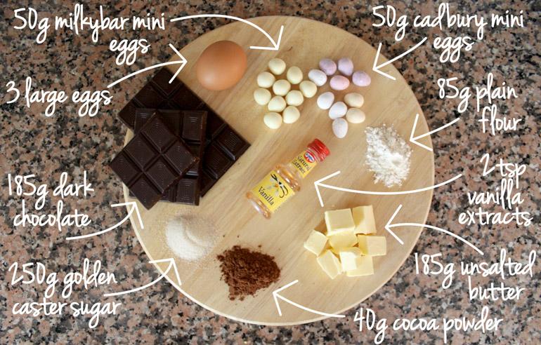 easter brownies ingredients