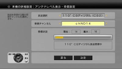 ブースターの利得を下げた後のND-14のDT400でのアンテナレベル