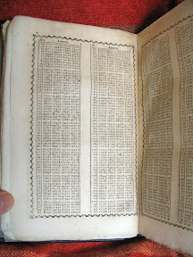 Una de las páginas de las tablas de logaritmos.