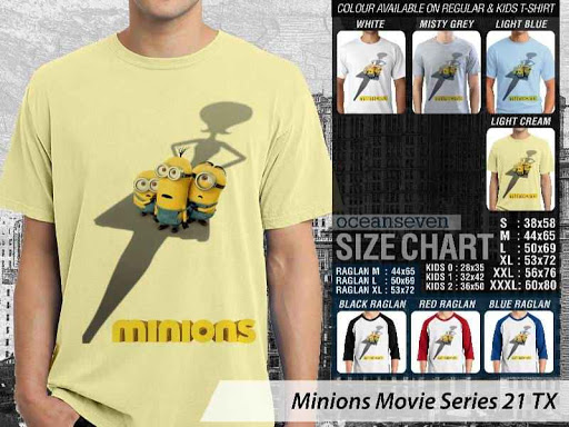 Kaos Kartun Minions Movie Series 21 distro ocean seven