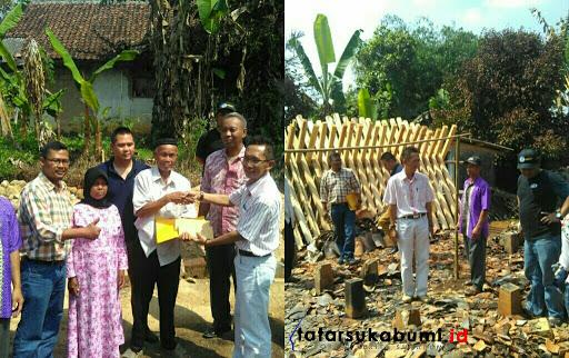 PT Muara Tunggal Cibadak Bantu Bangun Rumah Korban Kebakaran