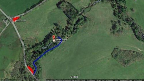 Devils Pulpit parking location map